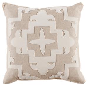 Thumbnail of Lacefield Designs - Cream Tan Fleece??Velvet Applique Pillow