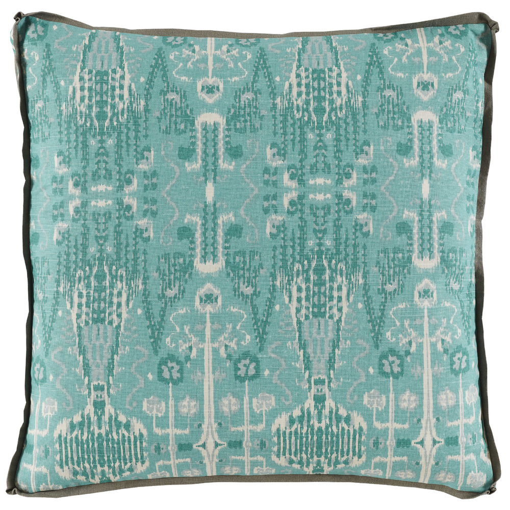 Lacefield Designs - Bombay Mist W/ Trellis Mist Gusset & Stone Linen Flange