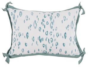 Thumbnail of Lacefield Designs - Leopard SeafoamWhiteOutdoor Lumbar Pillow