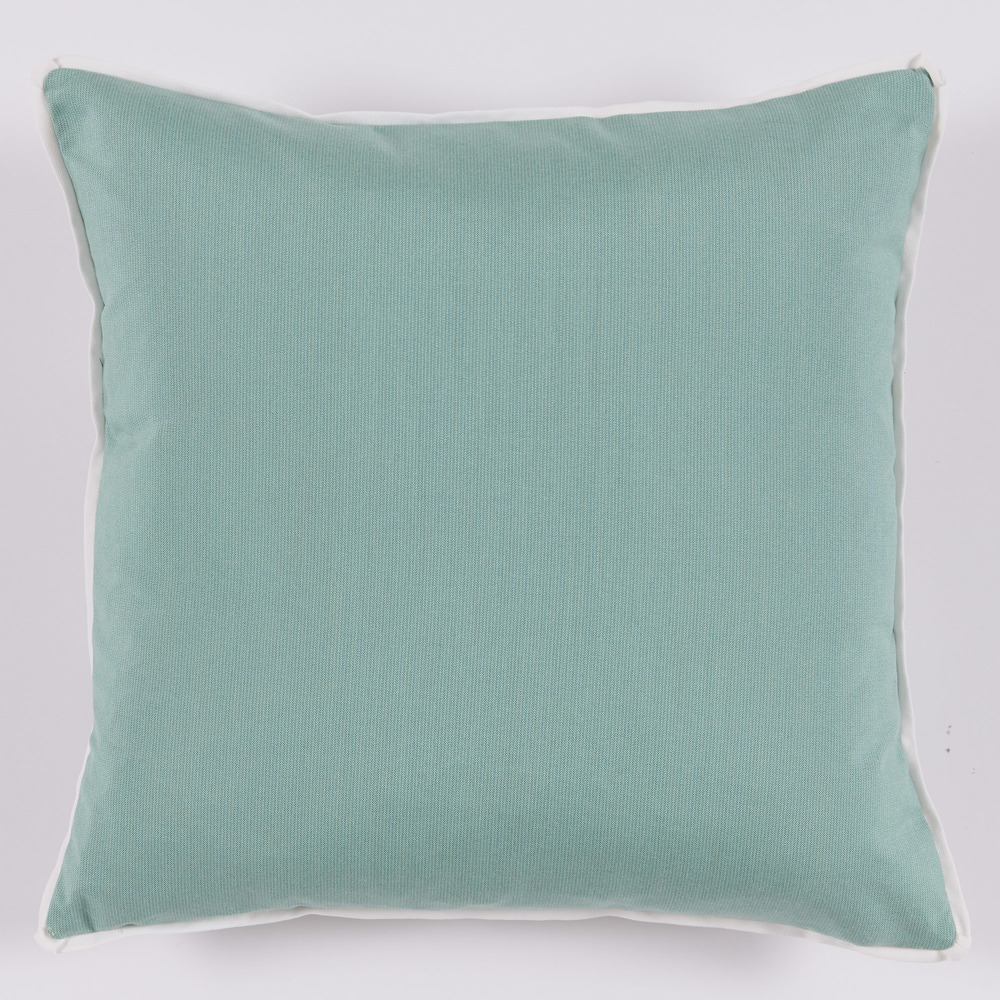 Lacefield Designs - Mint Taupe Floral Medallion Outdoor Pillow