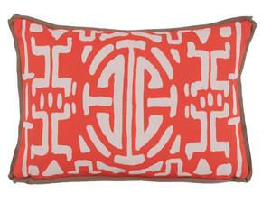 Thumbnail of Lacefield Designs - MelonGeometric Print Outdoor Lumbar Pillow