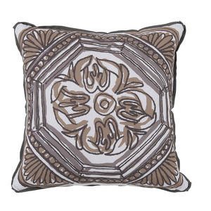 Thumbnail of Lacefield Designs - Camel Brown Circle Tile Reversible Outdoor Pillow