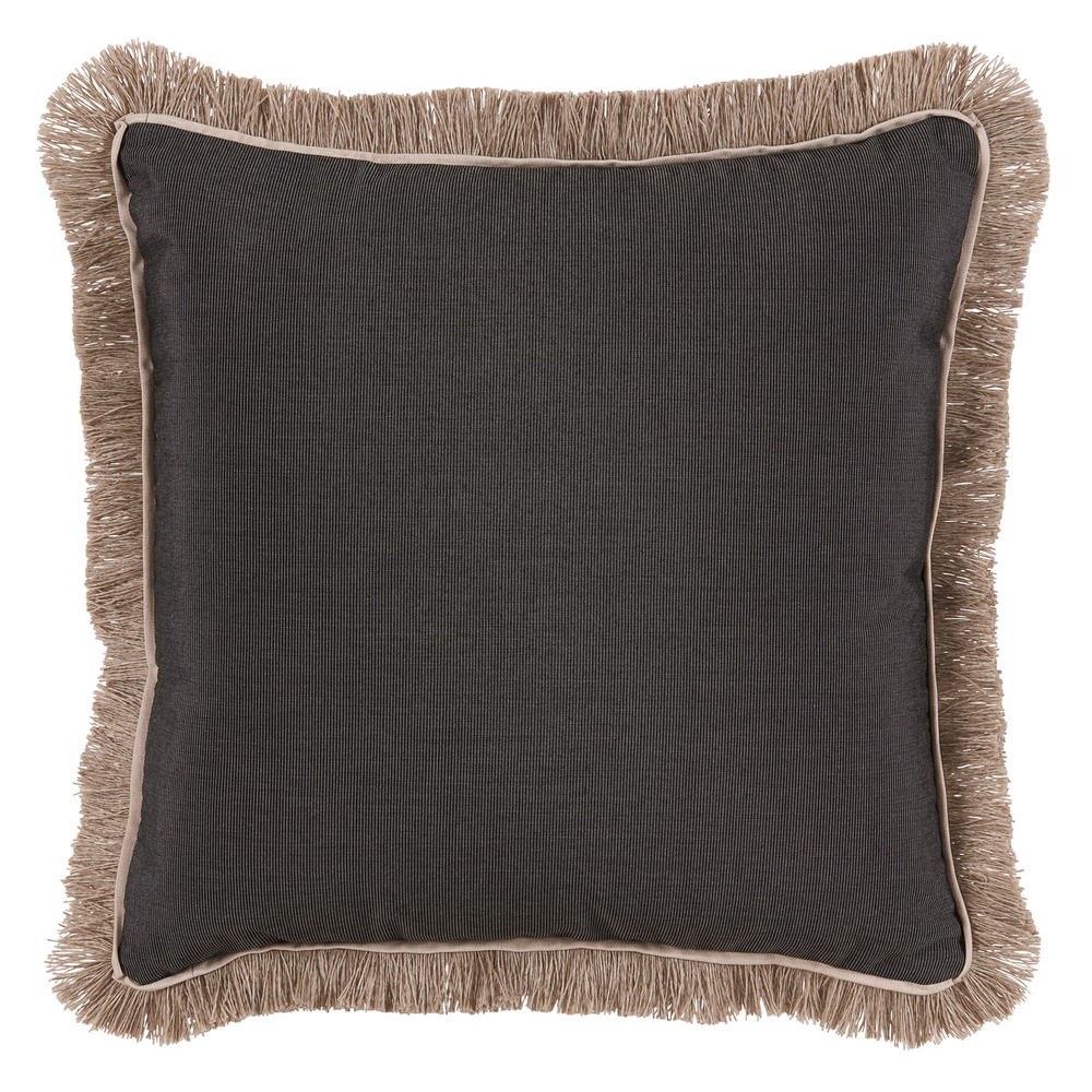 Lacefield Designs - Outdoor Coal Throw Pillow