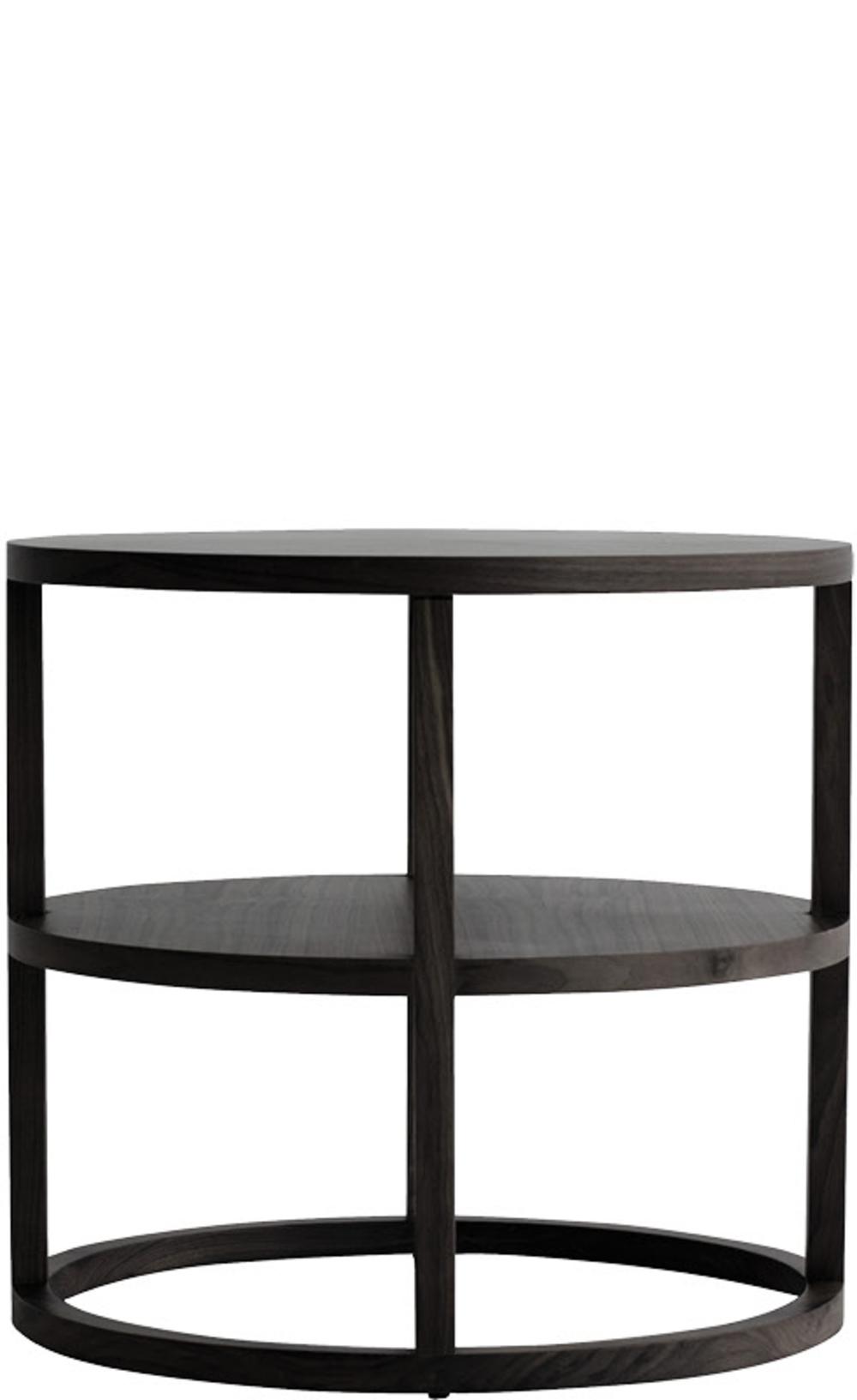 Van Peursem - Walnut Rnd Side Table w/ Shelf