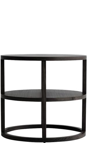 Thumbnail of Van Peursem - Walnut Rnd Side Table w/ Shelf