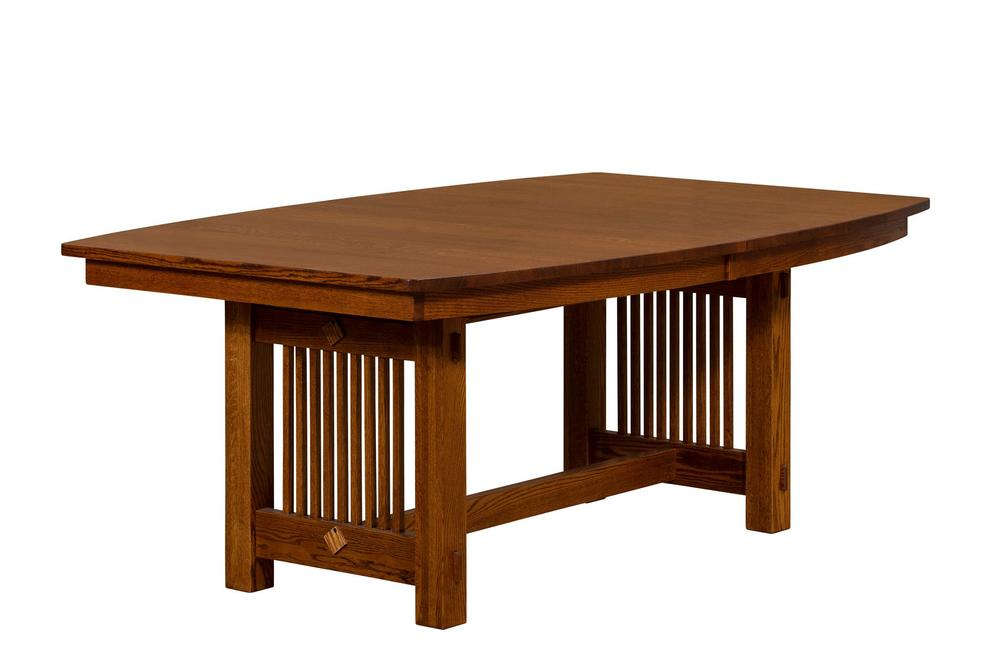 Borkholder Furniture - Solid Top Table with One Leaf, Aproned