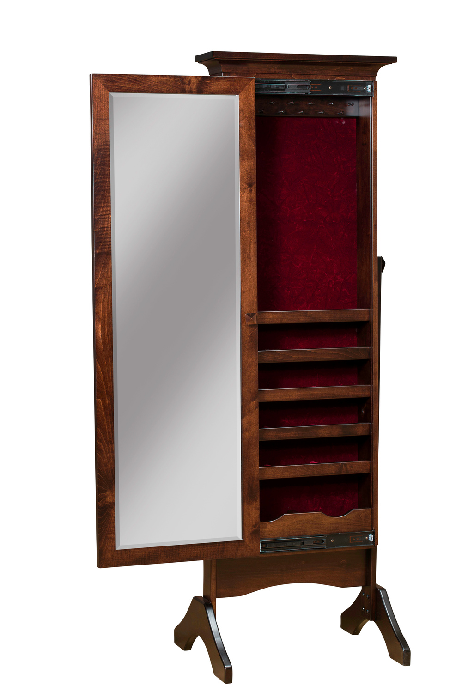 Borkholder Furniture - Cheval Mirror with Sliding Door