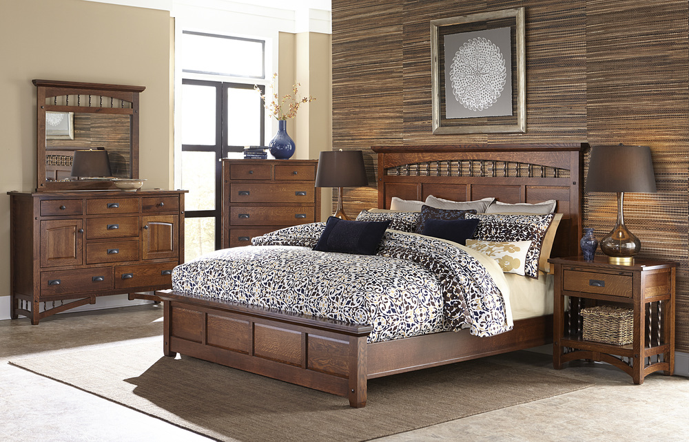 Borkholder Furniture - Panel King Bed