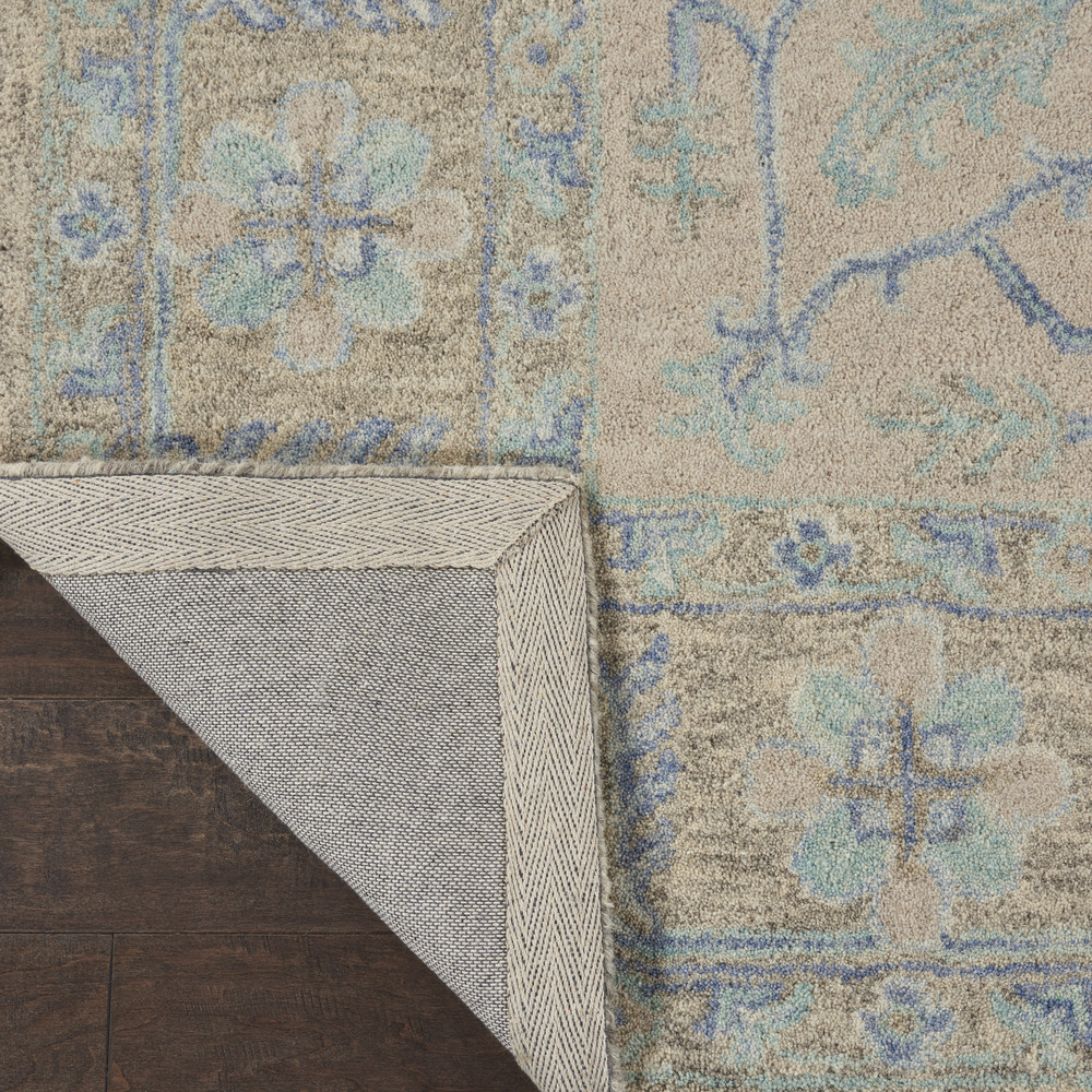 Nourison Industries - Jazmine JAZ01 Grey/Blue 9x12 Oversized Wool Rug
