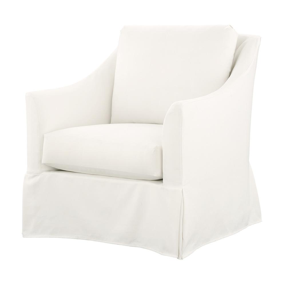Gabby Home - Baldwin Swivel Chair, Slipcovered