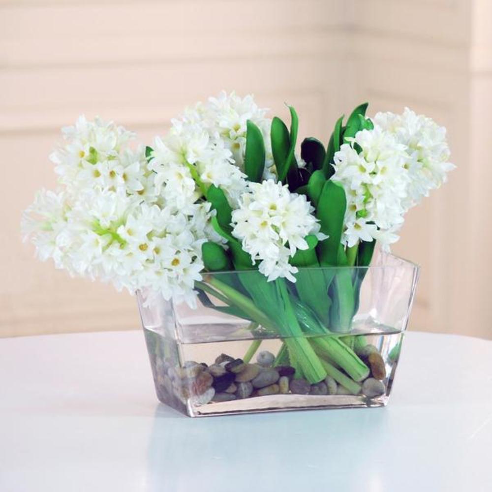 Winward - Hyacinth, Glass w/ Rock (White/Green)