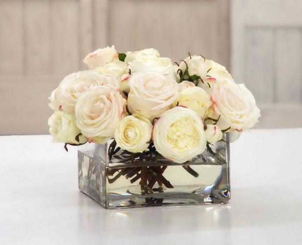 Winward - Rose, Glass Vase (White)