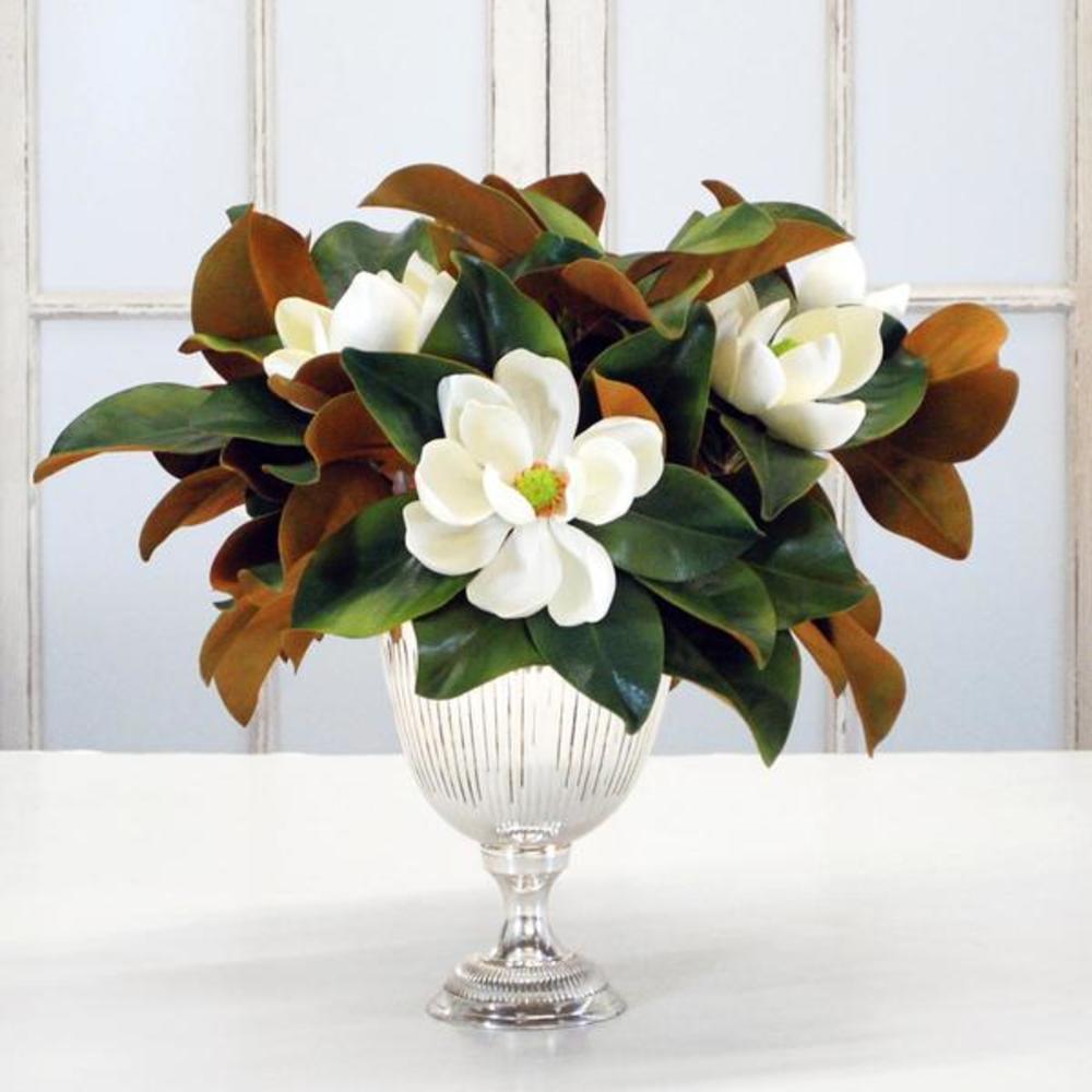 Winward - Magnolia, Silver Bowl (White/Green)