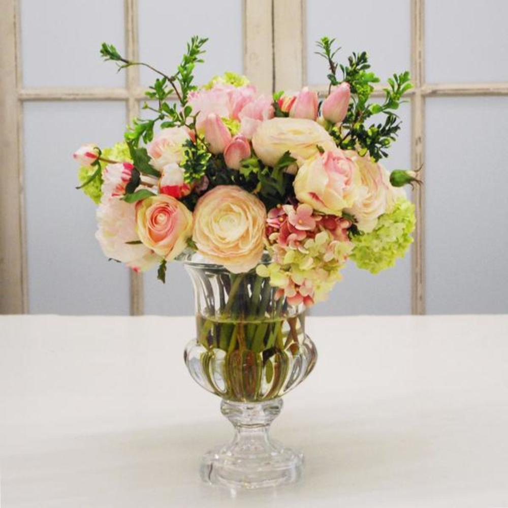 Winward - Mix Floral, Lotus Vase (Pink/Champagne)