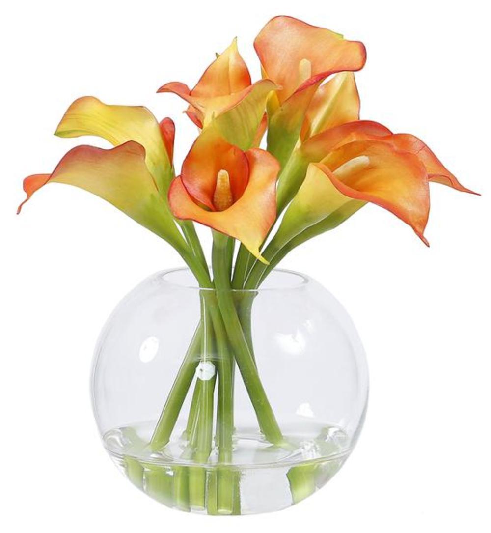 Winward - Calla Lily, Glass (Orange)