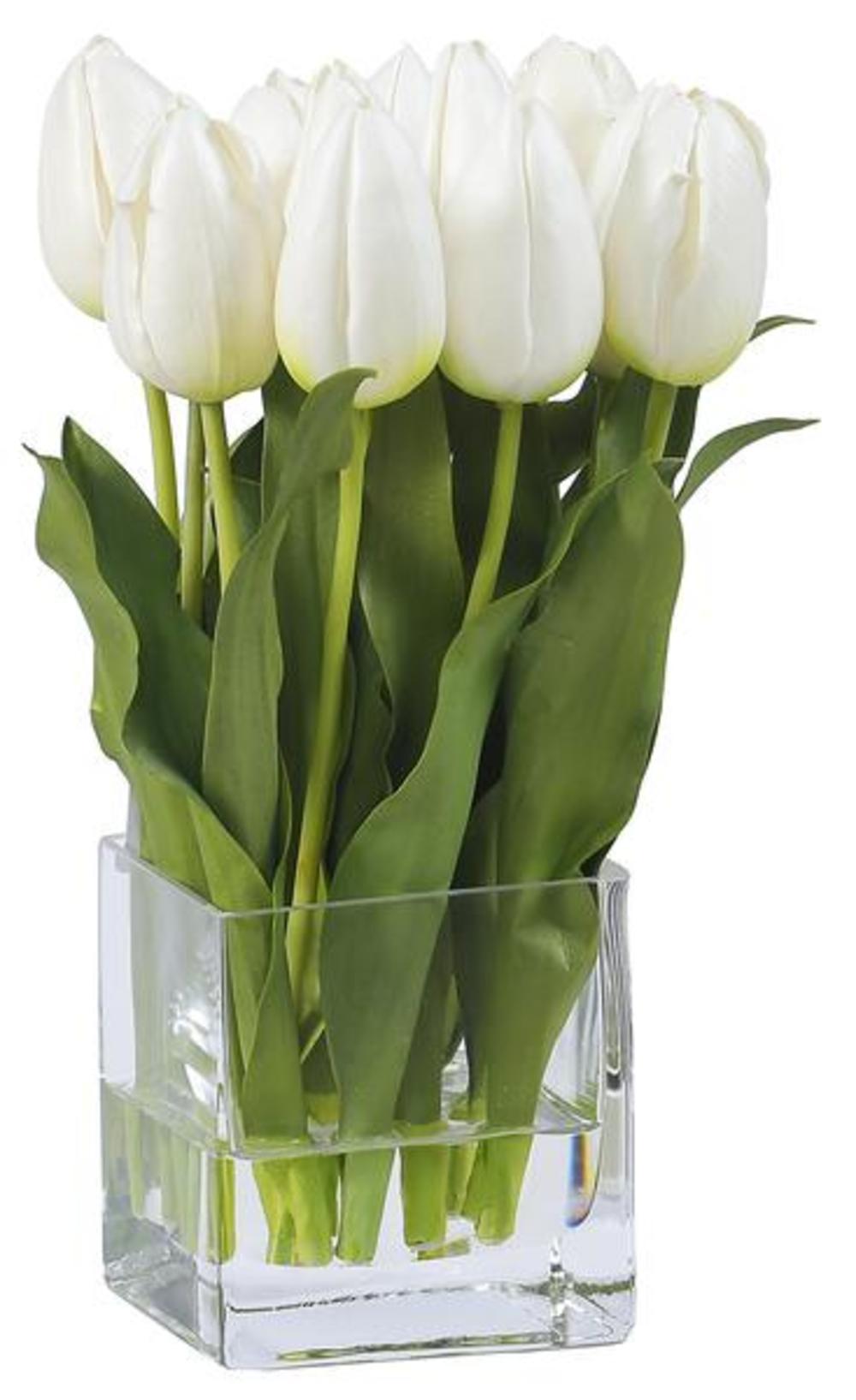 Winward - Tulips, Vase (White)
