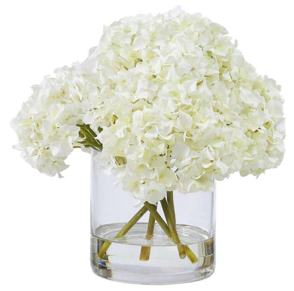 Winward - Hydrangeas, Glass (White)