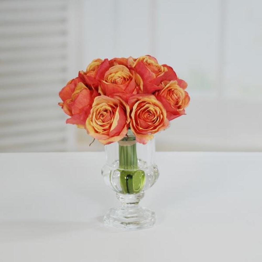 Winward - Rose, Crystal Glass  (Peach/Red)