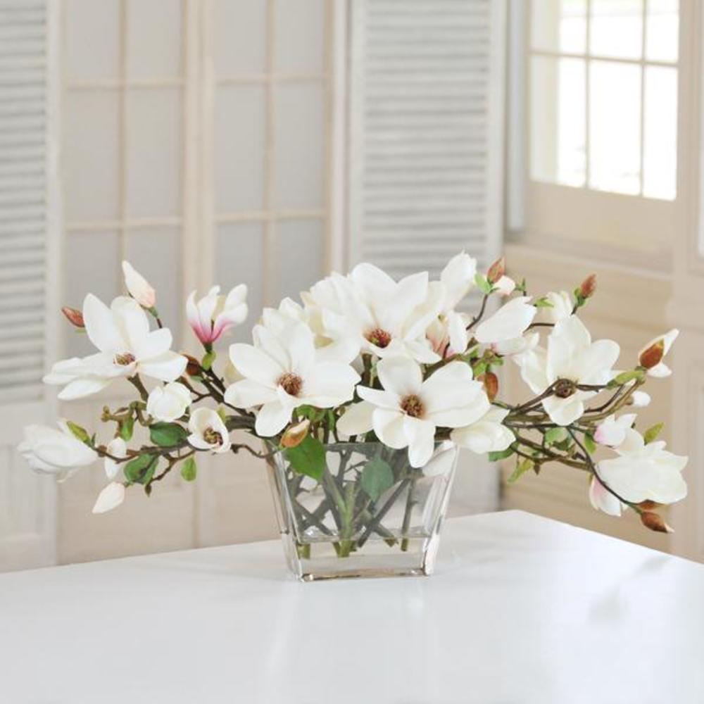 Winward - Magnolia Centerpiece (White/Green)