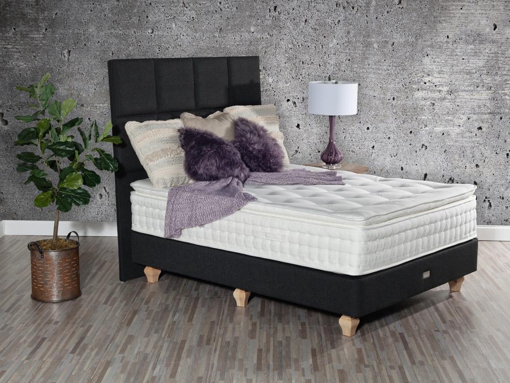 Paramount Sleep - Nature's Reign Camellia Pillow Top Mattress with Standard Box Spring