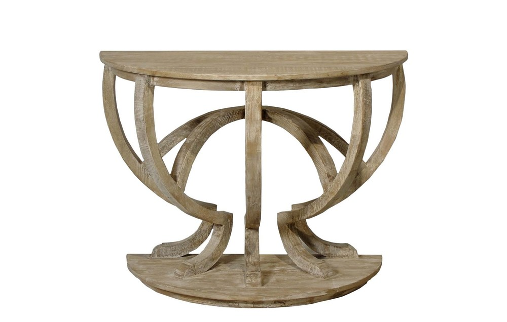 CFC - Reclaimed Lumber Demilune Console Table