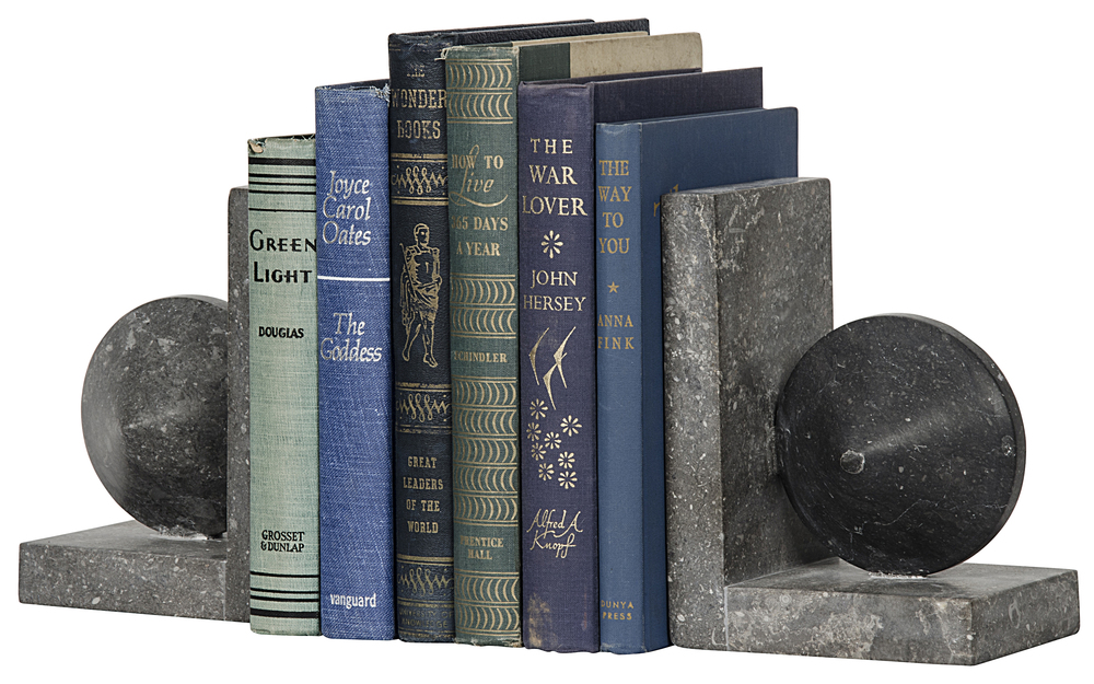 Noir Trading - Black Marble Bookends