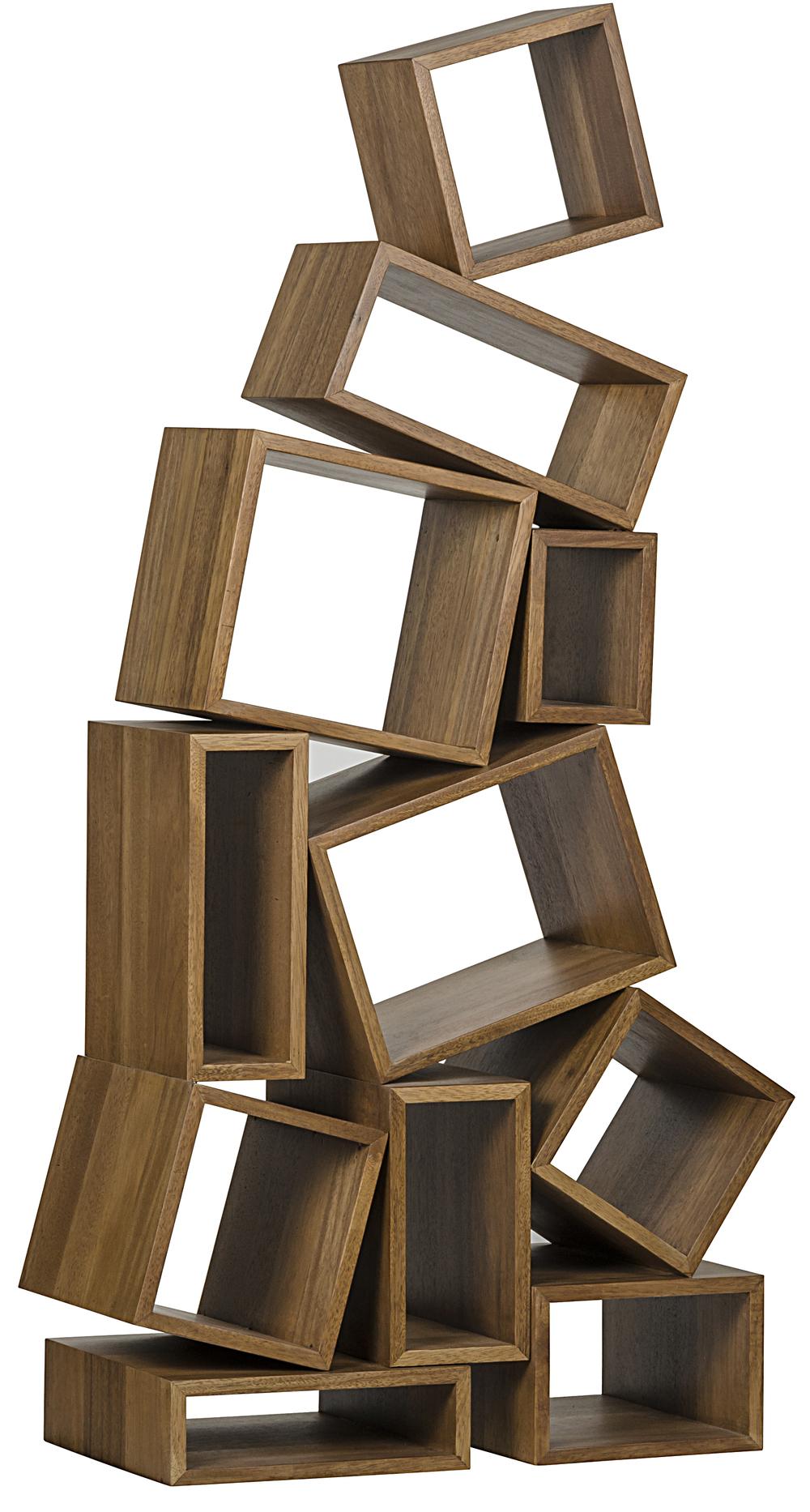 Noir Trading - Cubist Bookcase in Dark Walnut
