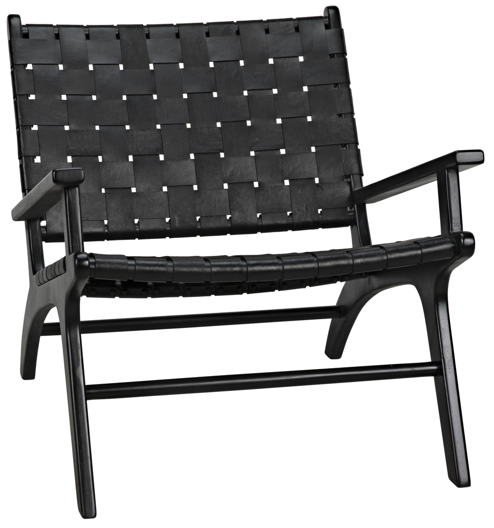 NOIR TRADING, INC - Kamara Arm Chair Black with Black Leather