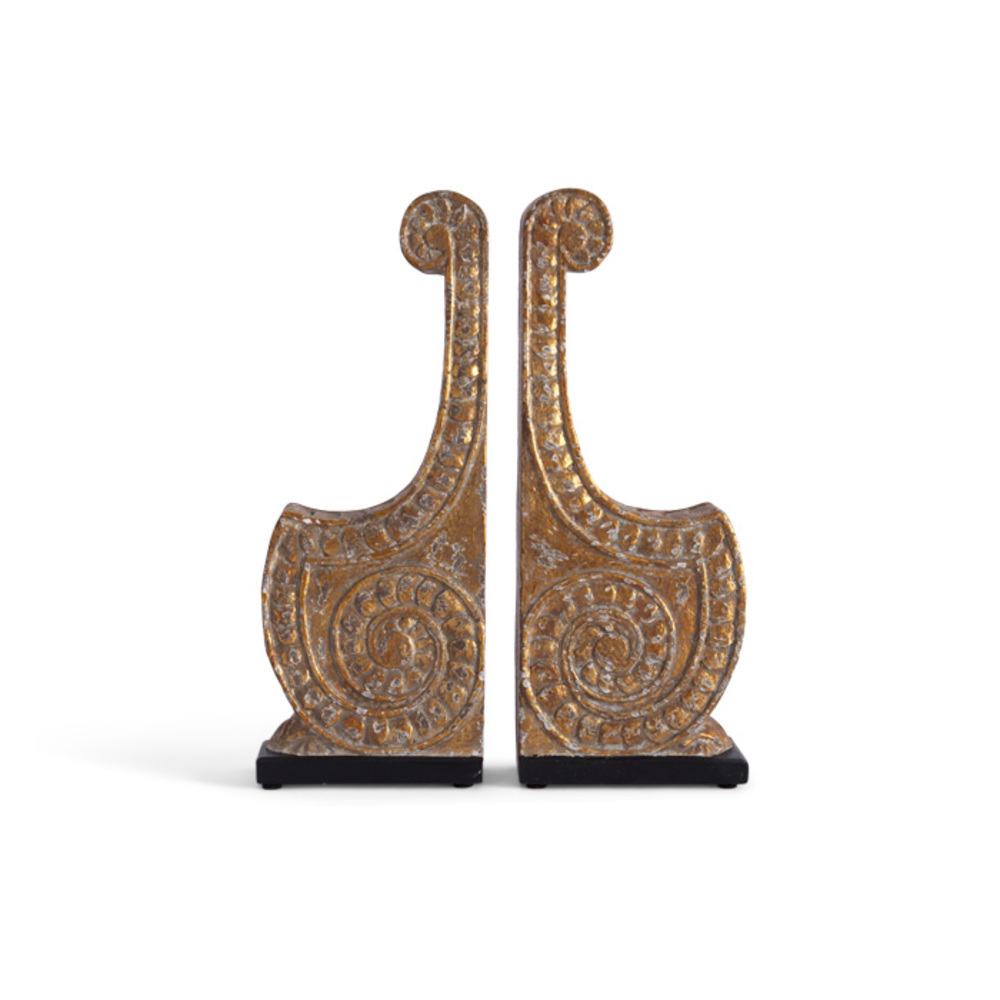 Bliss Studio - Scroll Bookends, Set/2
