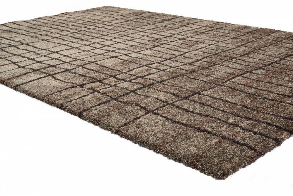 "Citak Rugs - Grid Anthracite 5'3"" x 7'7"" Rug"