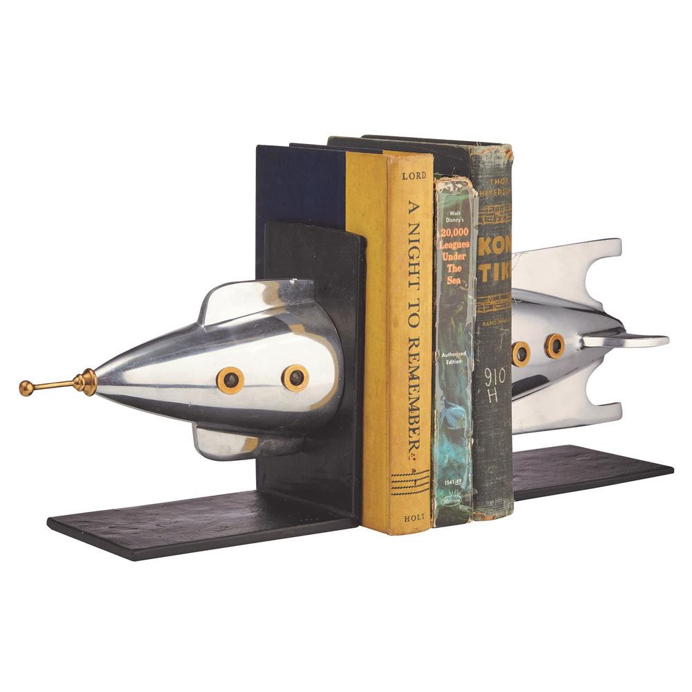Pendulux - Rocket Bookends, Aluminum