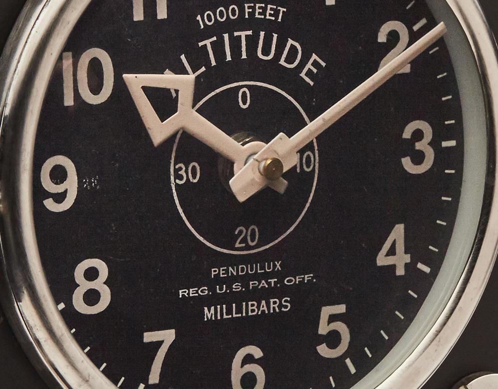 Pendulux - Altimeter Mantel Clock, Black