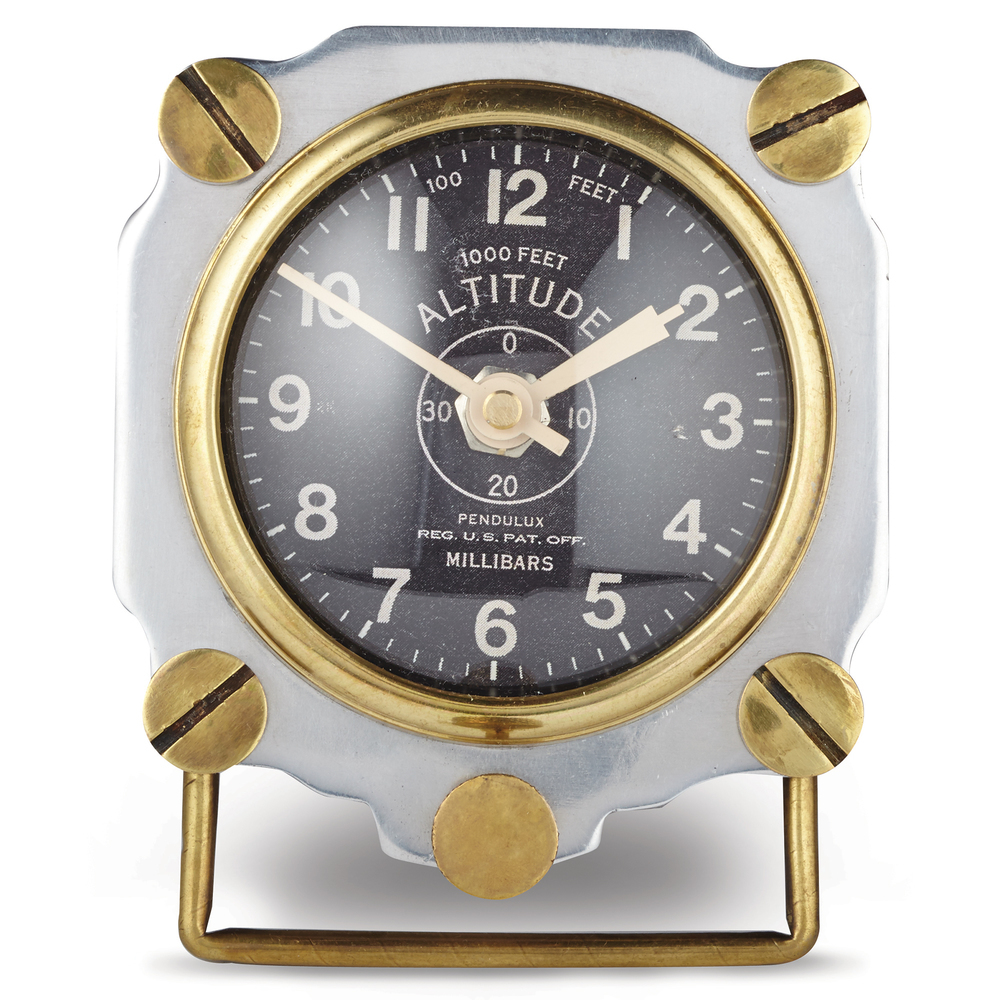 Pendulux - Altimeter Table Clock, Aluminum