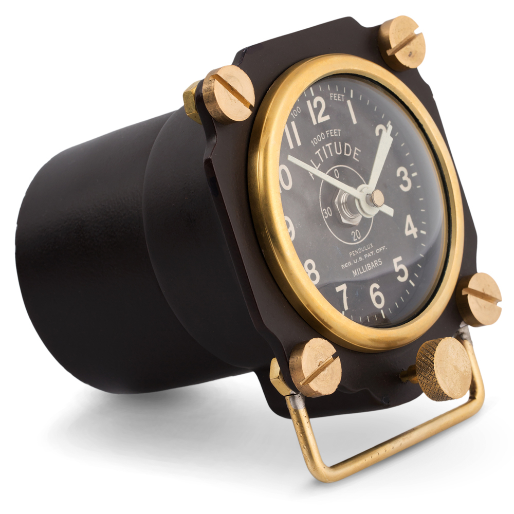 Pendulux - Altimeter Table Clock, Black