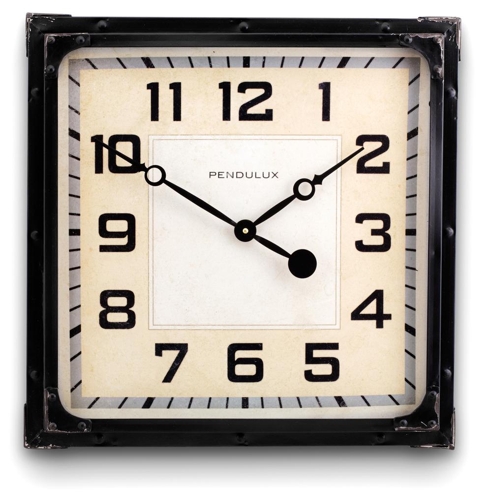 Pendulux - Gas Station Clock, Black