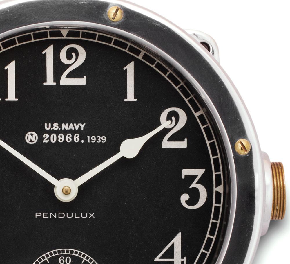 Pendulux - Navy Aluminum Master Clock