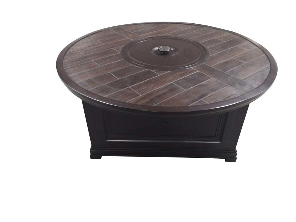 Sunvilla Corporation - Bungalow Round Fire Pit Table with Porcelain Top
