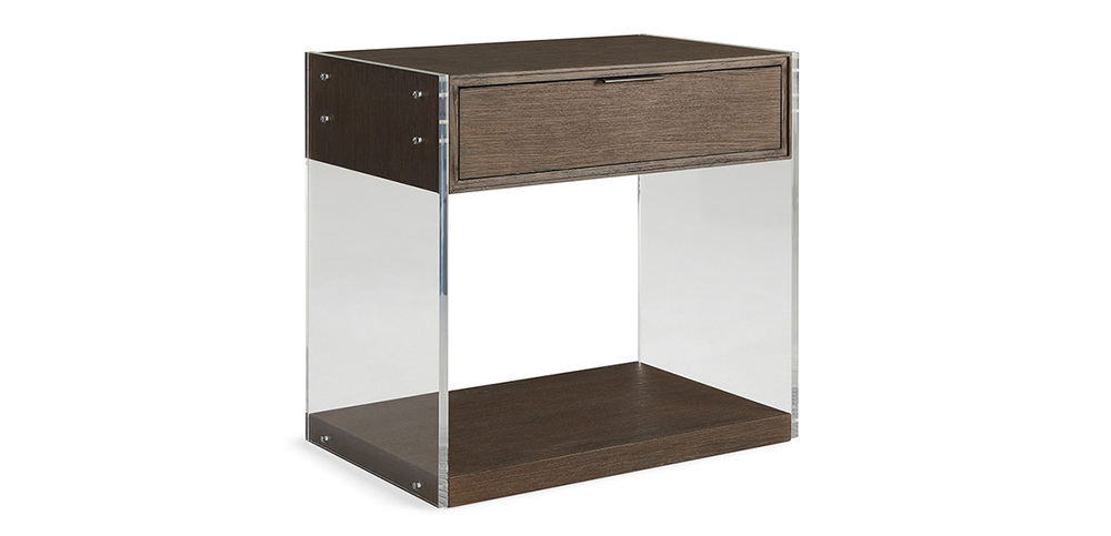 Brownstone Furniture - Nightstand with Lucite