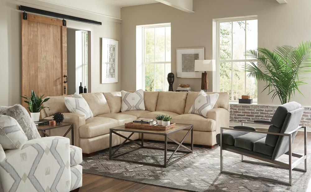 Craftmaster Furniture - CM Modern LAF Sofa with Return and RAF Loveseat