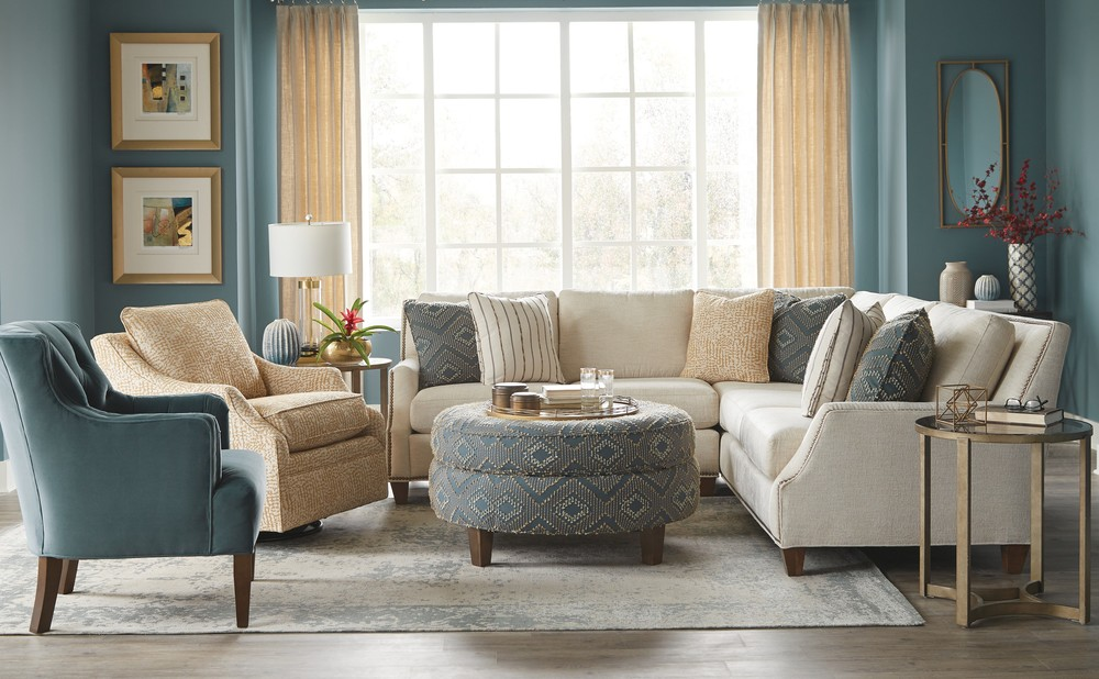 Craftmaster Furniture - New Traditions RAF and LAF Loveseat