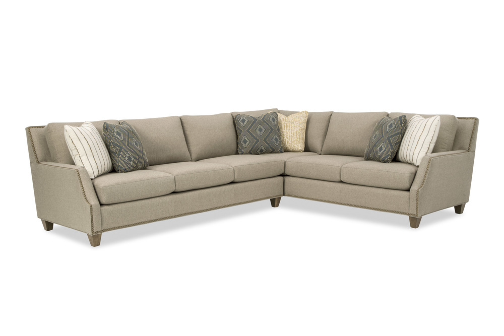 Craftmaster Furniture - New Traditions LAF Sofa and RAF Sofa with Return