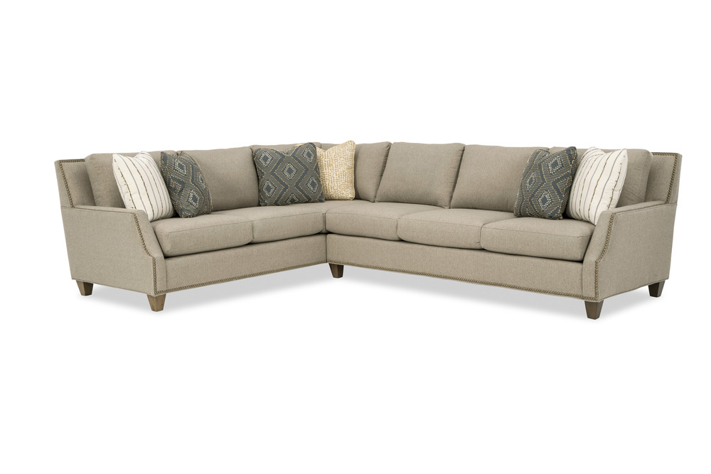 Craftmaster Furniture - New Traditions LAF Sofa with Return and RAF Sofa