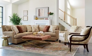 Thumbnail of Craftmaster Furniture - New Traditions LAF Loveseat and RAF Sofa with Return