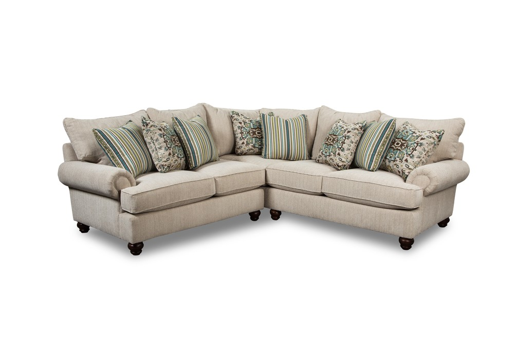 Craftmaster Furniture - Craftmaster Essentials LAF Sofa with Return and RAF Loveseat