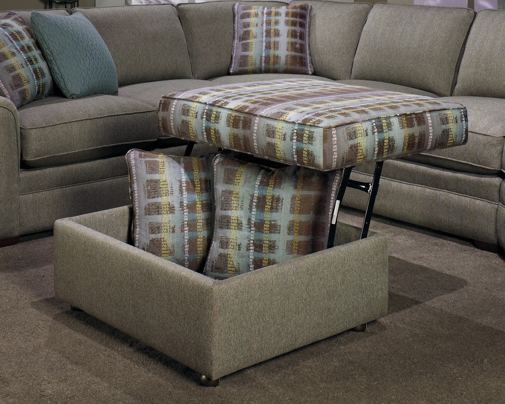 Craftmaster Furniture - Lift Top Storage Ottoman