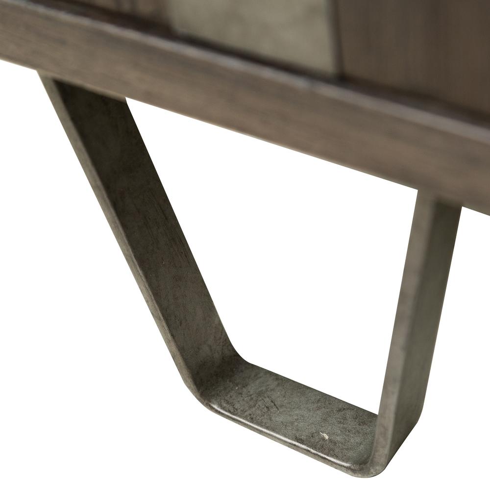Accentrics Home - Metal Strap Three Door Console