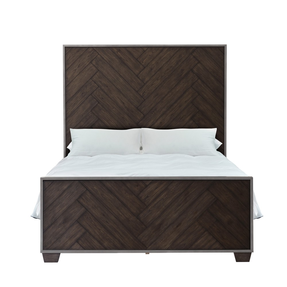 Accentrics Home - King Metal Frame Panel Headboard