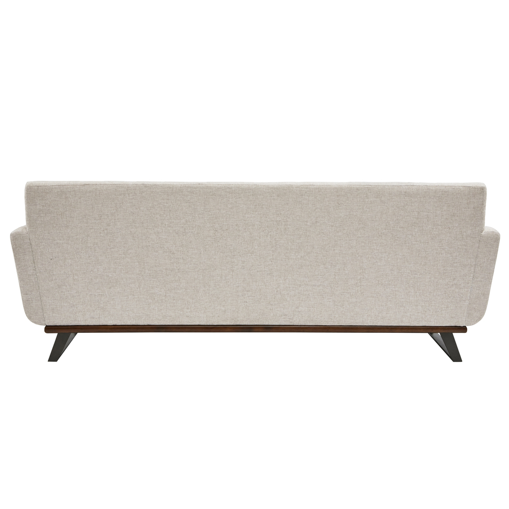 Accentrics Home - Button Tufted Wood and Metal Base Loveseat
