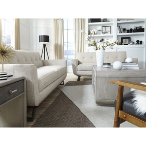 Thumbnail of Accentrics Home - Button Tufted Wood and Metal Base Loveseat