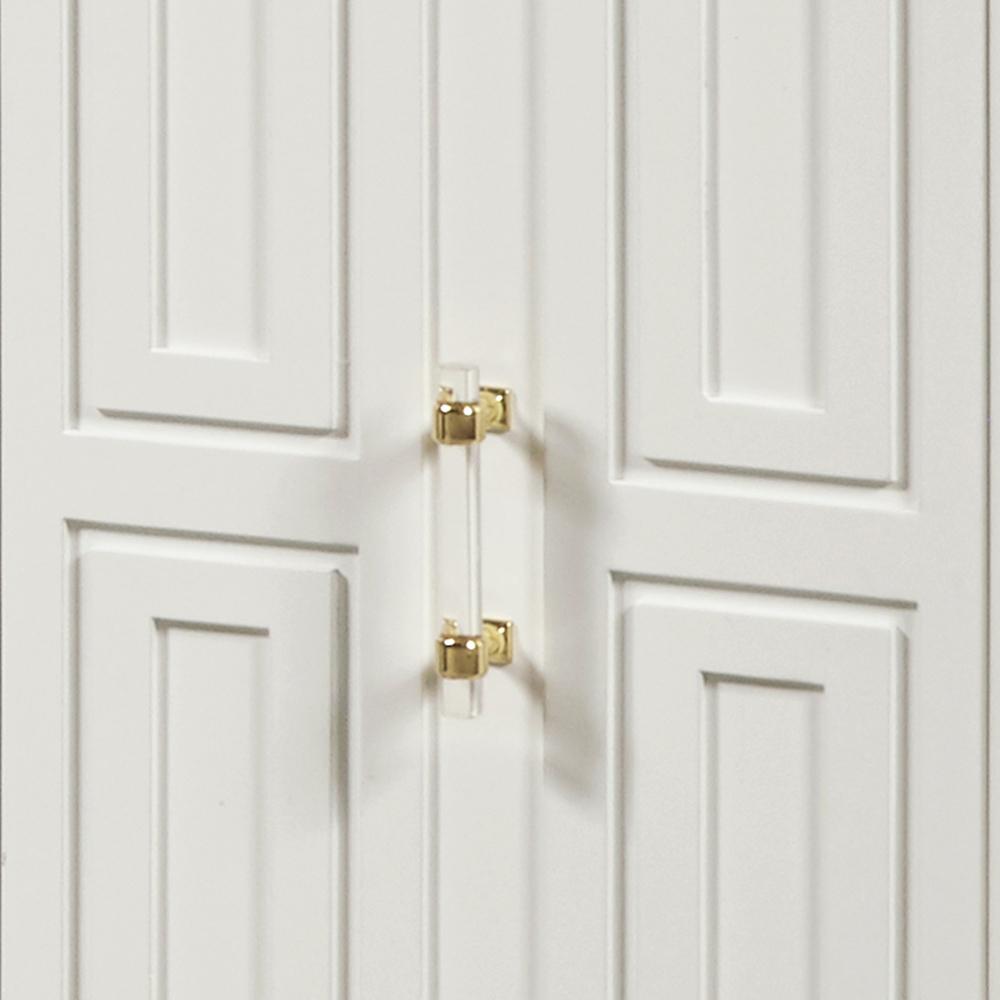Accentrics Home - Modern Geometric Four Door Credenza